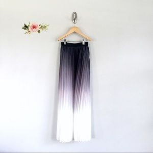 WD.NY Black and White Ombré Pleated Skirt
